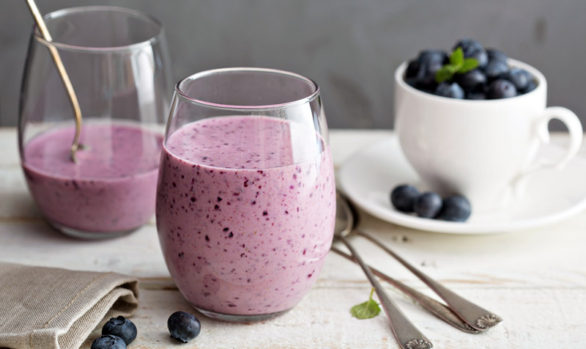 Thick Blueberry Shake/Pudding