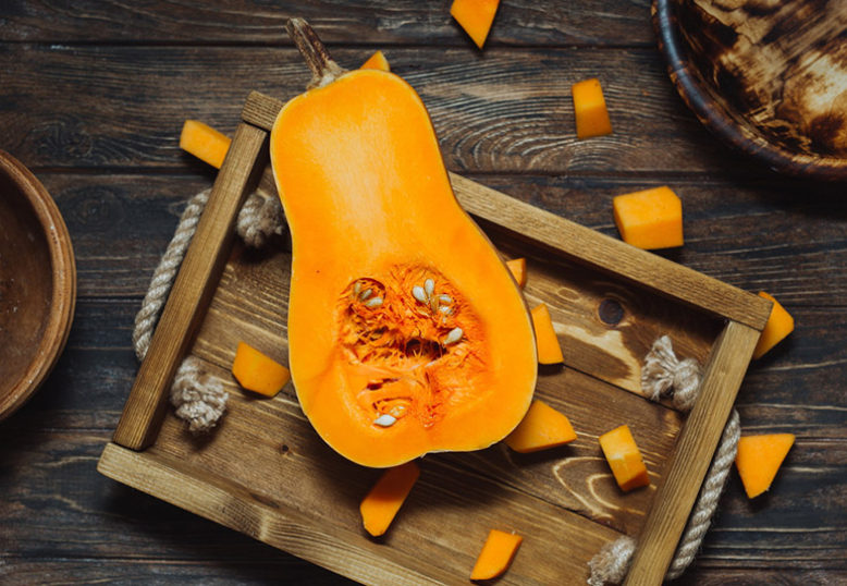 Butternut Squash with Cinnamon and Nut-butter Sauce